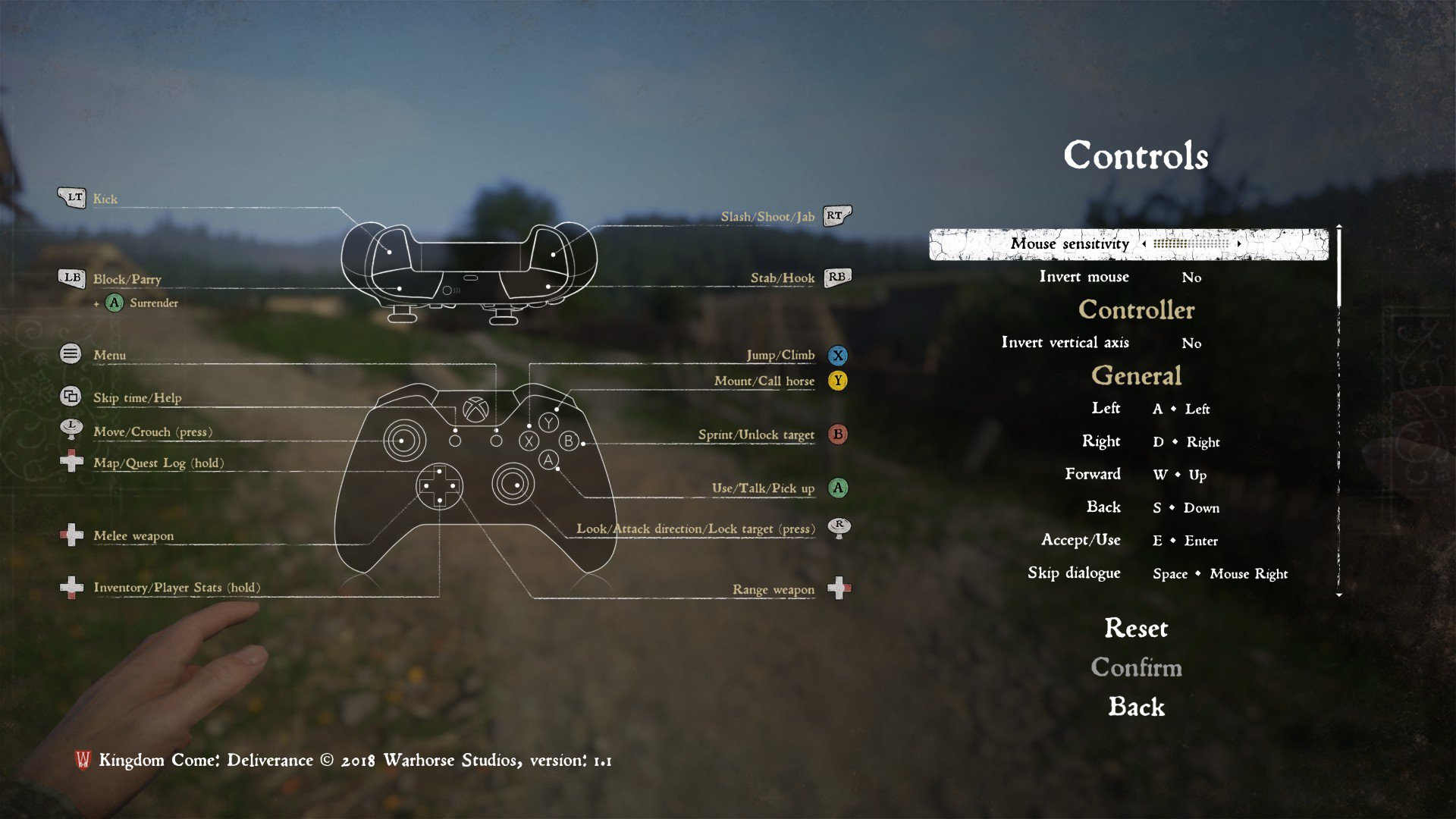 Controls | Kingdom Come Deliverance Wiki